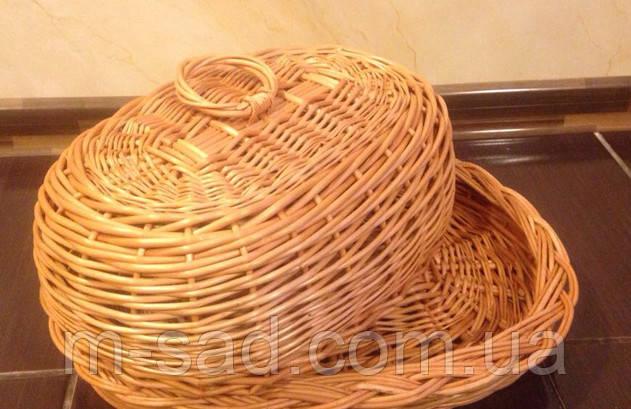 Хлібниця плетені з кришкою