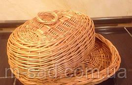 Хлебница плетеная с крышкой