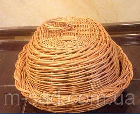 Хлібниця плетені з кришкою, фото 3