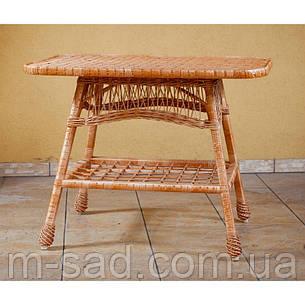 Стол плетеный из лозы.Стіл з лози плетений, фото 2