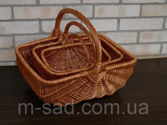 Набор плетеных корзин  из 3-х штук