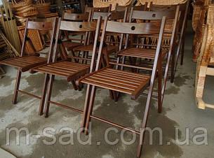 Складной стул со спинкой туристический, для пикника, дачи (деревянный), фото 2