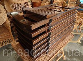 Складной стул со спинкой туристический, для пикника, дачи (деревянный), фото 3