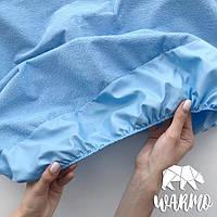 Наматрасник водонепроницаемый 120x60см на резинке голубой