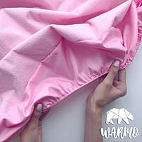 Наматрасник водонепроницаемый 120x60см на резинке розовый