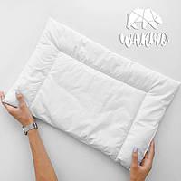 Тоненькая подушка 40х60см в детскую кроватку (Итальянский батист + Искусственный лебединый пух)
