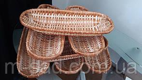 Хлебницы плетеные овальные из лозы, фото 2