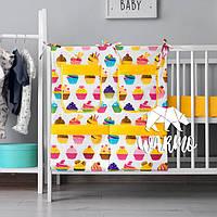 Органайзер для детской кроватки Warmo™ КЕКСЫ