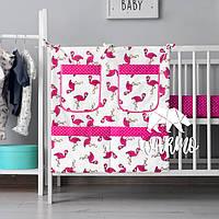 Органайзер для детской кроватки Warmo™ РОЗОВЫЕ ФЛАМИНГО