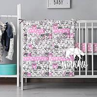 Органайзер для детской кроватки Warmo™ РОЗОВЫЕ КОТИКИ