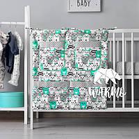 Органайзер для детской кроватки Warmo™ МЯТНЫЕ КОТИКИ