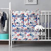 Органайзер для детской кроватки Warmo™ САМОЛЁТЫ