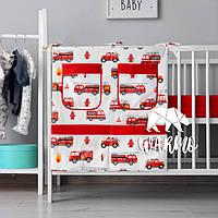 Органайзер для детской кроватки Warmo™ ПОЖАРНЫЕ МАШИНЫ