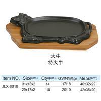 Тарелка чугунная баран