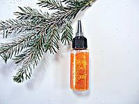 """Витражный клей-гель с блестками Оранжевый """"Glitter Glue"""" ,70мл для оформления стекла,бумаги и ткани.Вітражний"""