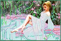 Набор для вышивания бисером «Девушка у бассейна»