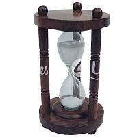 Морской сувенир песочные часы Sea Club, h-11,5 см., d-7,5 см.