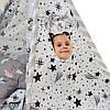 """Вигвам, детская игровая палатка с матрасом и подушками. Расцветка """"Медведи Silver"""", фото 3"""