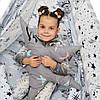 """Вигвам, детская игровая палатка с матрасом и подушками. Расцветка """"Медведи Silver"""", фото 4"""