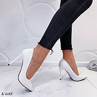 Женские белые туфли лодочки