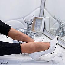 Женские белые туфли лодочки, фото 2