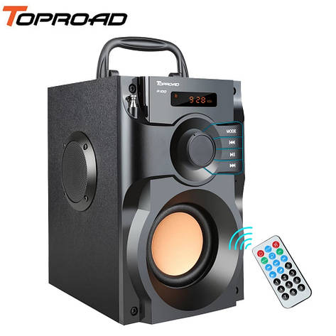 Музыкальный центр TOPROAD RS-A100 с пультом. Bluetooth колонка. Поддержка USB, microSD, FM-радио, фото 2
