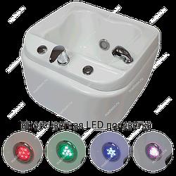 Ванночка для педикюра акриловая с гидромассажем и подсветкой на колёсиках СПА -6