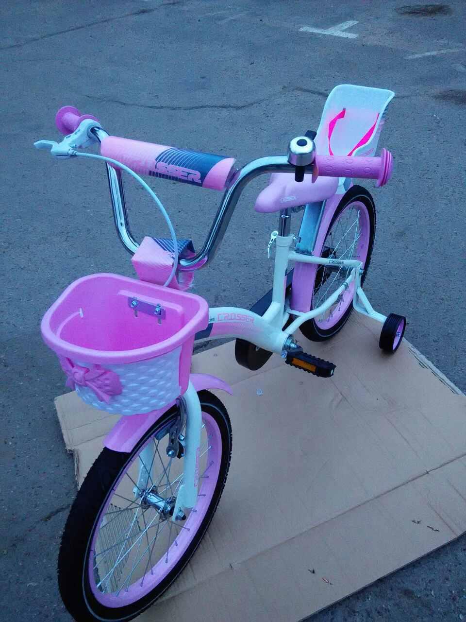 Детский двухколесный  велосипед 18 дюймов KIDS BIKE CROSSER