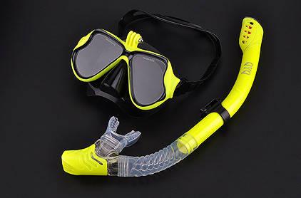 Комплект маска для дайвинга с креплением для GoPro, Xiaomi, SJCAM + Трубка для плавания, фото 2