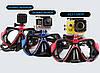 Комплект маска для дайвинга с креплением для GoPro, Xiaomi, SJCAM + Трубка для плавания, фото 4