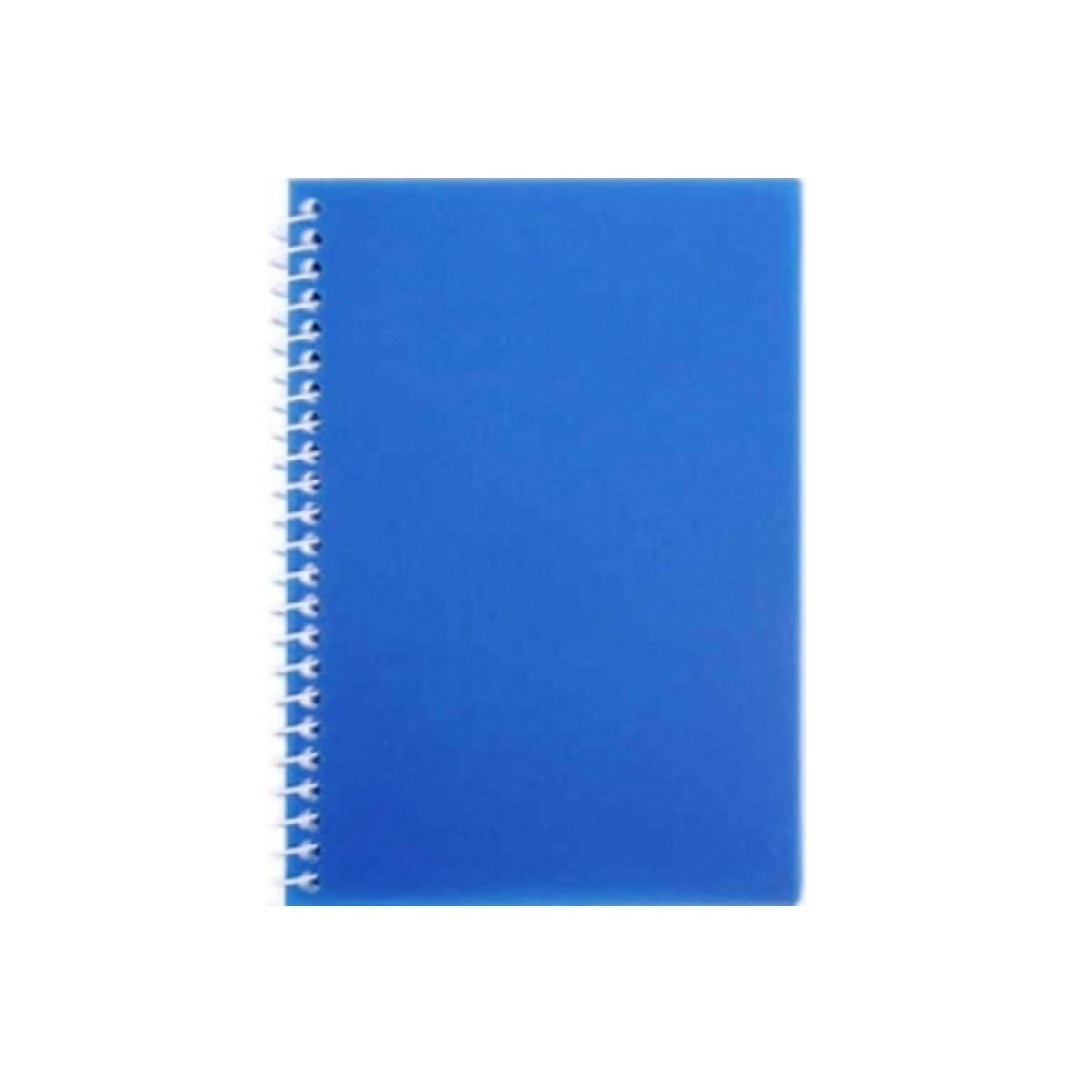 Блокнот А6, бокова спіраль, 80 арк., пластикова обкл. 20221-02, голубой