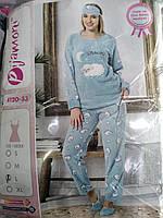 "Пижама женская теплая ткань софт """"Pijamoni"",Турция"