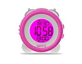 Настольные часы GOTIE с будильником Фиолетовые  (GBE-200F)