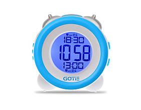 Настольные часы GOTIE с будильником Голубые  (GBE-200N)