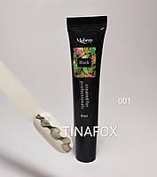 Гелевая краска для стемпинга и дизайна ногтей Mobray Черная  №001, 8 мл