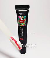 Гелевая краска для стемпинга и дизайна ногтей Mobray Красная №003, 8 мл