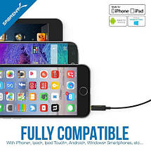 Многофункциональный петличный микрофон MILISO для телефона iPhone и Android, фото 2