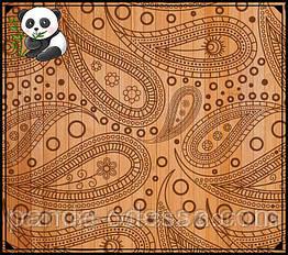 """Бамбукові шпалери """"Мотиви"""" темний фон, висота рулону-0,9 м, ширина планки 17 мм / Бамбукові шпалери"""