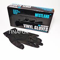 Перчатки для мастера маникюра нитриловые черные, размер S
