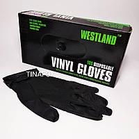 Перчатки для мастера маникюра нитриловые черные, размер L