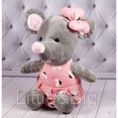 Мышка поздравительная 1/4 розовая (00255-8)