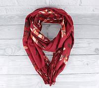 Кашемировый шарф, палантин бордовый Cashmere 7580-1, фото 1