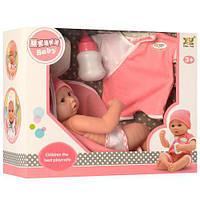 Кукла Пупс 28см. + наряд, подгузник, бутылочка, в коробке