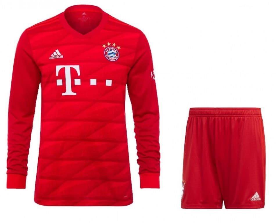Футбольна форма Баварія Мюнхен Bayern з довгим рукавом, домашня 2019-20