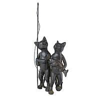 Фигурка декоративная коты рыбалка 28 см 102806