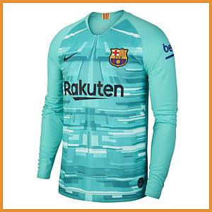 Вратарская футбольная форма Барселона (Barcelona) длинный рукав 19/20 голубая