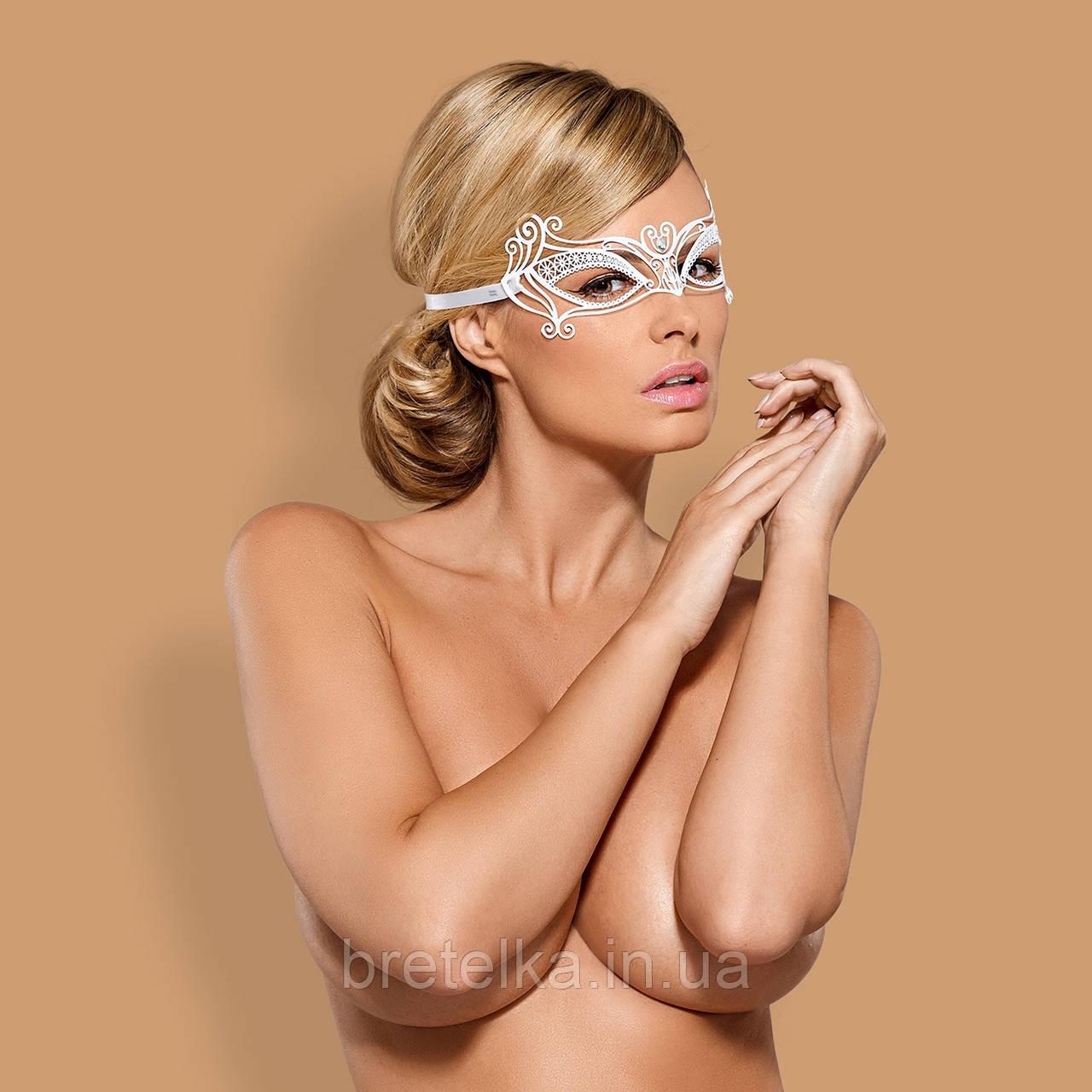 Кружевная маска Obsessive A703 MASK Белый
