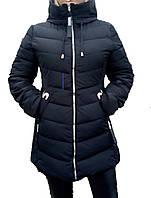 Куртка женская зимняя удлиненная теплая плотная плащевка синтепон 44-48 размеров