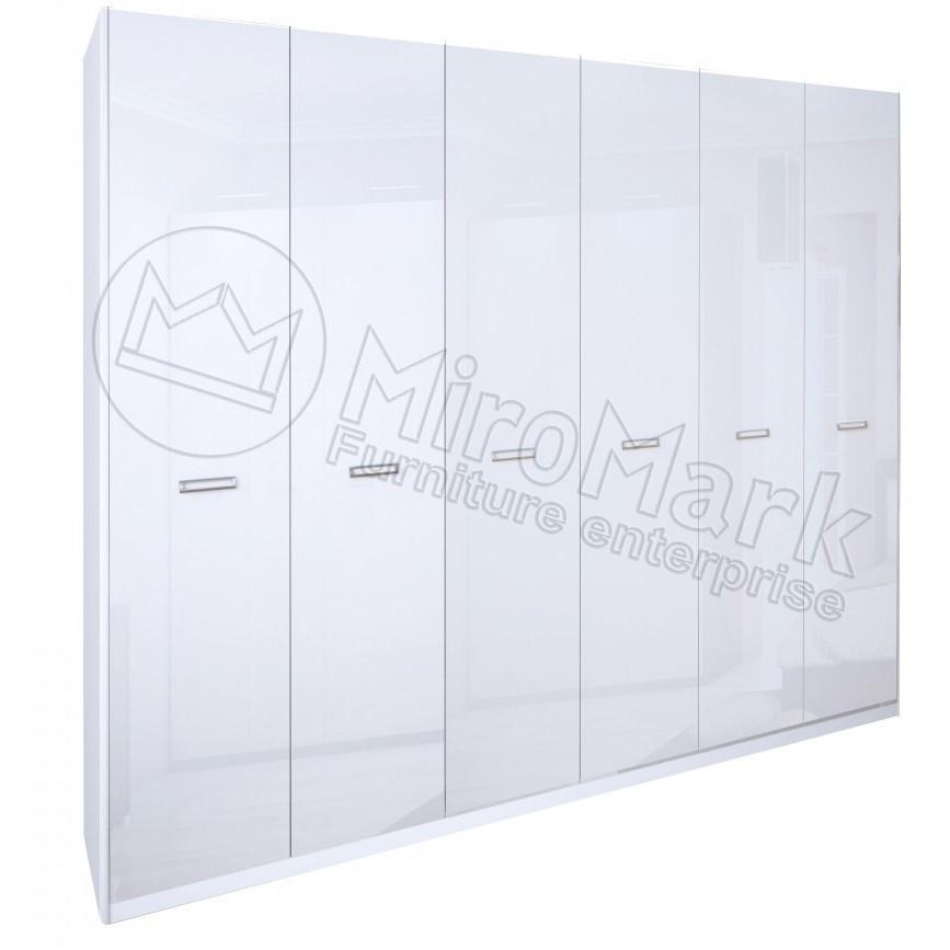 Шкаф 6дв Белла глянец белый ТМ Миро Марк