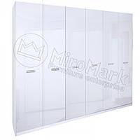 Шкаф 6дв Белла глянец белый ТМ Миро Марк, фото 1
